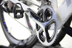 Closed up front Bicycle gears Stock Image