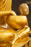 Closed up hand and arm bowl of buddha Royalty Free Stock Photo