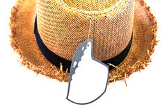 Closed up of the hat. On white background Royalty Free Stock Image