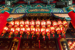 Closed up lattern in chinese temple Royalty Free Stock Photography