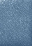 Closed up Light Blue Colored Genuine Leather, for Background. Texture, Pattern Royalty Free Stock Images