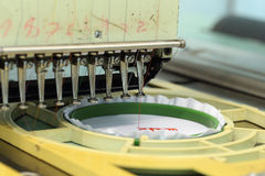 Closed-up of Machine embroider Stock Image