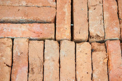 Closed up old brick texture. Background Royalty Free Stock Photo