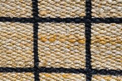 Closed Up of Paid Pattern of Basket Weave Texture. Background of Brown Handicraft Weave Texture Wicker Surface with Paid Pattern for Furniture Material Royalty Free Stock Photography