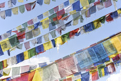 Closed up prayer flag in Nepal Royalty Free Stock Images