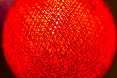 Closed –up red and orange color of velvet paper lantern Stock Photography