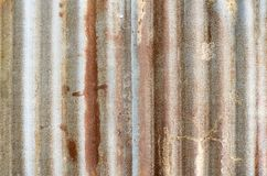 Closed-up of rusty galvanized iron steel. stock photo