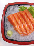 Closed up salmon sushi, japanese food Royalty Free Stock Photo