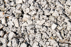 Closed up on small gravel stones used as construction material Stock Image
