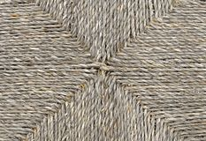 Closed up of Square Texture of Basket Weave Pattern Royalty Free Stock Photography