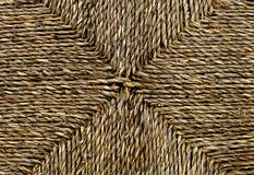 Closed up of Square Texture of Basket Weave Pattern Stock Photography