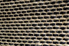Closed Up of Square Texture of Basket Weave Pattern Royalty Free Stock Image