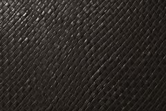 Closed Up of Square Texture of Black Basket Weave Pattern Royalty Free Stock Images