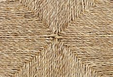 Closed Up of Square Texture of Brown Basket Weave Pattern Royalty Free Stock Photography