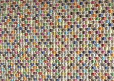 Closed Up of Square Texture of Colorful Basket Weave Pattern Stock Photography