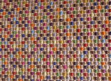 Closed Up of Square Texture of Colorful Weave Pattern Royalty Free Stock Photos