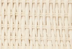 Closed Up of Square Texture of White Basket Weave Pattern Stock Image