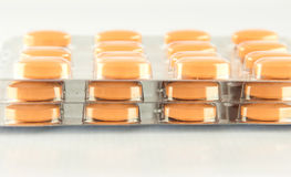 Closed up tablet in blister pack. Show medicine concept Stock Photography