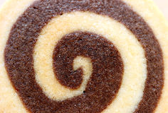Closed up tasty vanilla and chocolate swirl butter cookie, for background Stock Photos