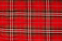 Closed up Texture of tablecloth, gingham pattern in red, white a Stock Photography