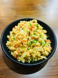 Fried rice with garlic in japanese style royalty free stock images