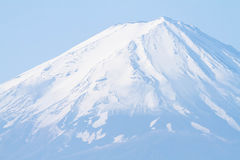 Closed up the top of Mt.Fuji Stock Photos