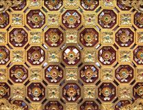 Closed-up vintage golden concrete stucco design Royalty Free Stock Photography