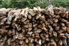 Closed up the woodpile Royalty Free Stock Image