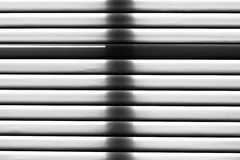 Closed venetian blind Stock Image