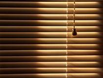 Closed venetian blinds background Stock Photo
