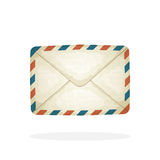 Closed vintage mail envelope Stock Photography