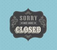 Closed Vintage retro signs Stock Photos