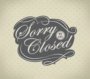 Closed Vintage retro signs Royalty Free Stock Photo