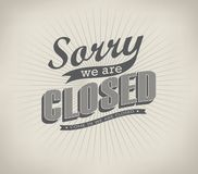 Closed Vintage retro signs Royalty Free Stock Photography