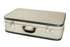 Closed vintage suitcase Stock Images