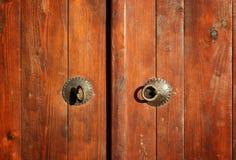 Closed vintage wooden door Stock Photography