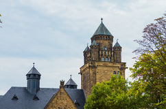 Closed Waldthausen. Details of the architecture of the city of Mainz, the city's attractions castle, park Royalty Free Stock Photo