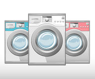 Closed washing machine Royalty Free Stock Images