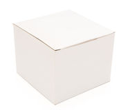 Closed white box Stock Images