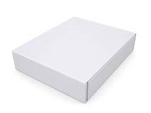 Closed white box. Isolated render on a white background Royalty Free Stock Photography
