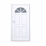 Closed white door Stock Photography
