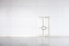 Closed white door in empty office Stock Photos