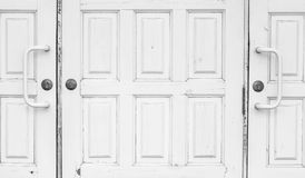 Closed white doors Royalty Free Stock Images