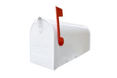 Closed White Mailbox Royalty Free Stock Photos