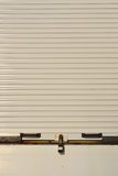 Closed white shutters Royalty Free Stock Image