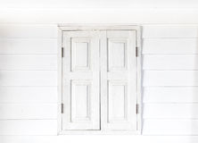 Closed white window. In white background Stock Photos