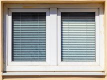 Closed Window Blinds on a Sunny Day royalty free stock photography