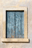 Closed Window with Blue Shutter Stock Photos