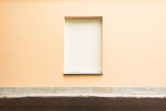 Closed window with the concrete. Royalty Free Stock Image