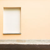 Closed window with the concrete. Royalty Free Stock Photo